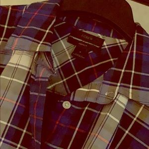 J Crew perfect fit plaid button down